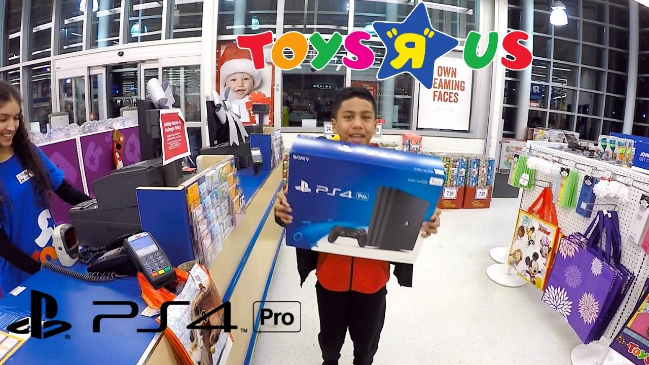 ps4pro shopping at toys r us and new tv from best buy. Black Bedroom Furniture Sets. Home Design Ideas