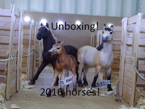 Unboxing Of Horse Stable Set From Schleich Farm Toys