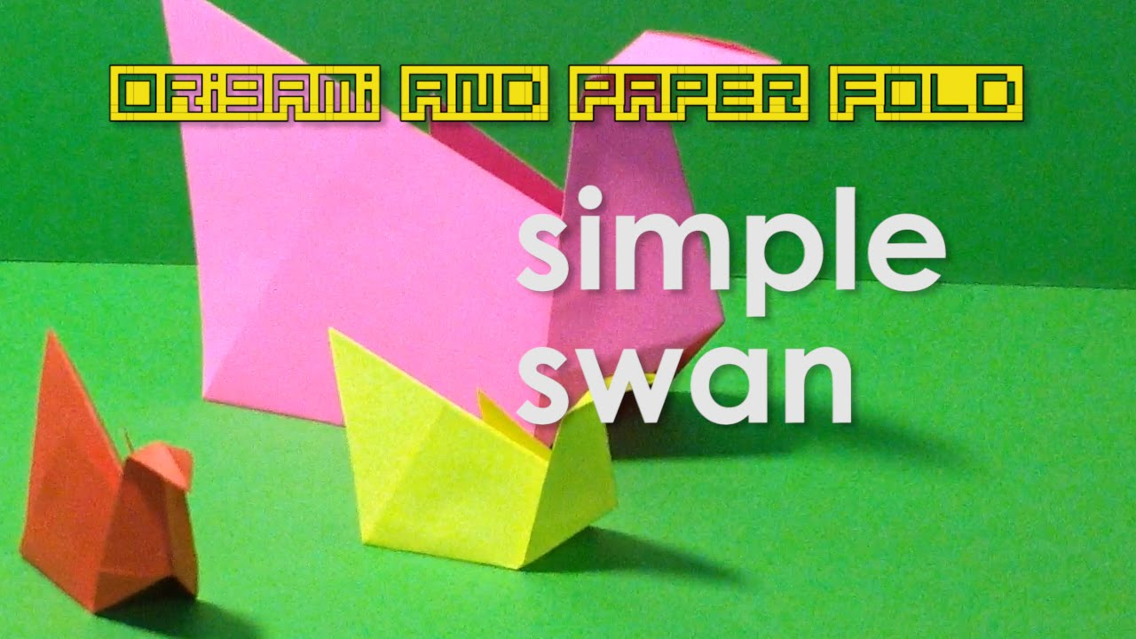 Origami simple swan for kids traditional toy and paper origami simple swan for kids traditional toy and paper crafts youtube sciox Choice Image