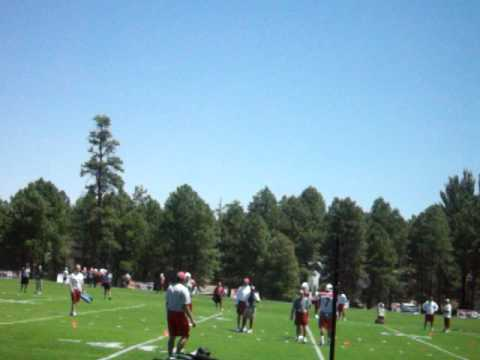 Cards camp qb practice Matt Leinart way off