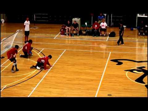 IBSA World Youth Goalball Championship 2015 - Canada vs USA 1st Half