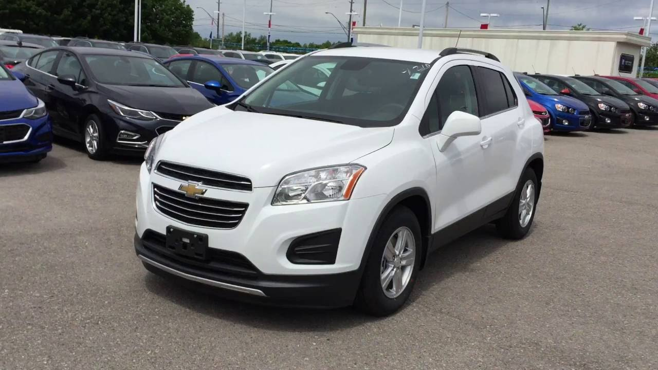 2016 Summit White Chevrolet Trax FWD LT Roy Nichols Motors ...