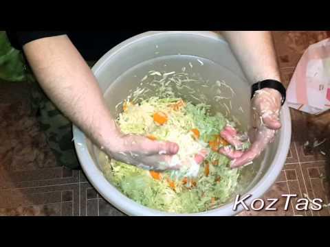 Как солить капусту в ведре на зиму