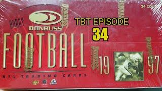 1997 Donruss Football Hobby Box. Fantastic Box! TBT Episode 34