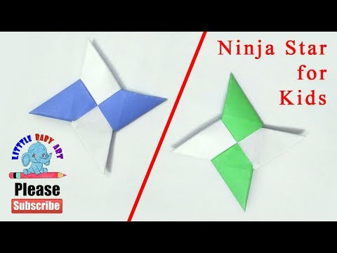 How To Make a Paper Ninja Star | Ninja Star Fidget Spinner | How To Make A Paper Fidget Spinner