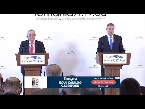 #RO2019EU: Întâlnire la Palatul Cotroceni, între Klaus Iohannis şi Jean-Claude Juncker