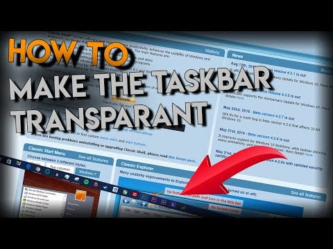 How To Make Your Windows Task Bar Completely Transparent (win7,8,8.1,10)