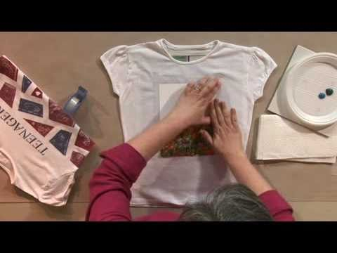 Customisez Vos Textiles Avec De La Peinture Youtube
