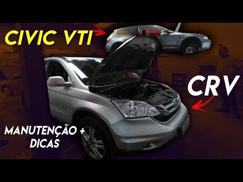 HONDA CRV EM MANUTENÇÃO + CIVIC VTI B16 EM CONSTRUÇÃO