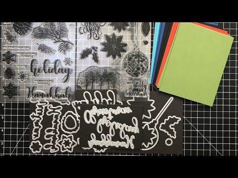 10 Cards - 1 Kit | Gina K Stamp TV Kit | Merry and Bright | Part 1