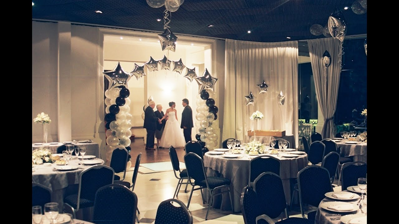 Salon De Bodas Salones De Fiestas Decorados Con Globos Youtube