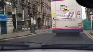 Drive around Huddersfield town centre