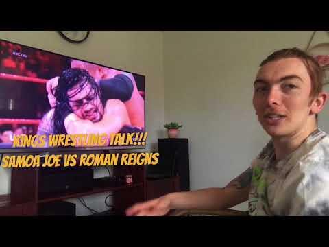 KINGS WRESTLING TALK!!! RAW 1/01/18 Roman Reigns vs Samoa Joe, Intercontinental title Match Reaction thumbnail