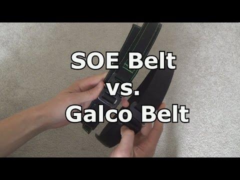 SOE EDC Vs. Galco Cobra Tactical Belt