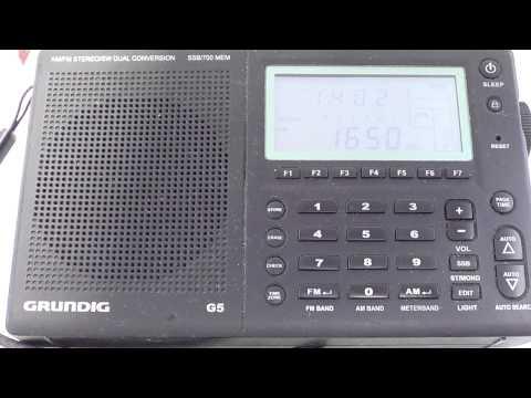 Grundig G5 Radio Shalom 1650 khz mediumwave ID