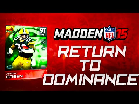 Madden NFL 15 Ultimate Team - AHMAN GREEN RETURNS TO DOMINANCE! -  MUT 15