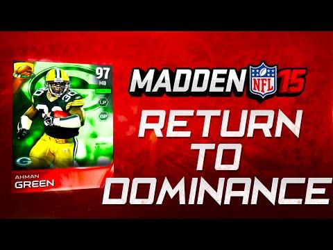 Madden NFL 15 Ultimate Team - AHMAN GREEN RETURNS TO DOMINANCE! -  MUT 15