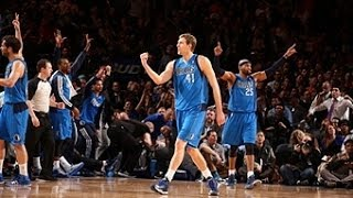 Dirk Nowitzki Rattles in the Buzzer Beater to Beat the Knicks!