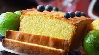 Bolo Inglês Pound Cake de Limão