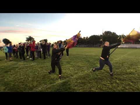 Holdrege High School Band before Harvest of Harmony 2018 - Brian Gnuse NTV