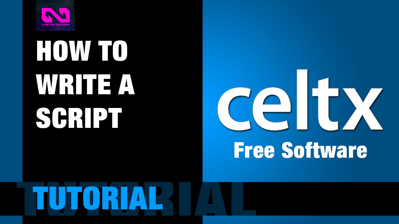 how to write a film script free software  youtube