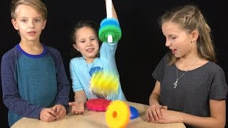 Learn English Colors! Spinner Tower with Sign Post Kids!