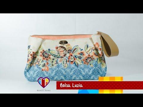 c033d2ec1 Bolsa carteira de tecido Luzia. Compre o projeto: moldes medidas, passo a  passo no Maria Adna Ateliê
