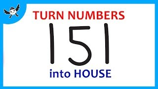 How To Turn Numbers 151 into Cartoon HOUSE - Learn Doodle Art on Paper for Kids ✔