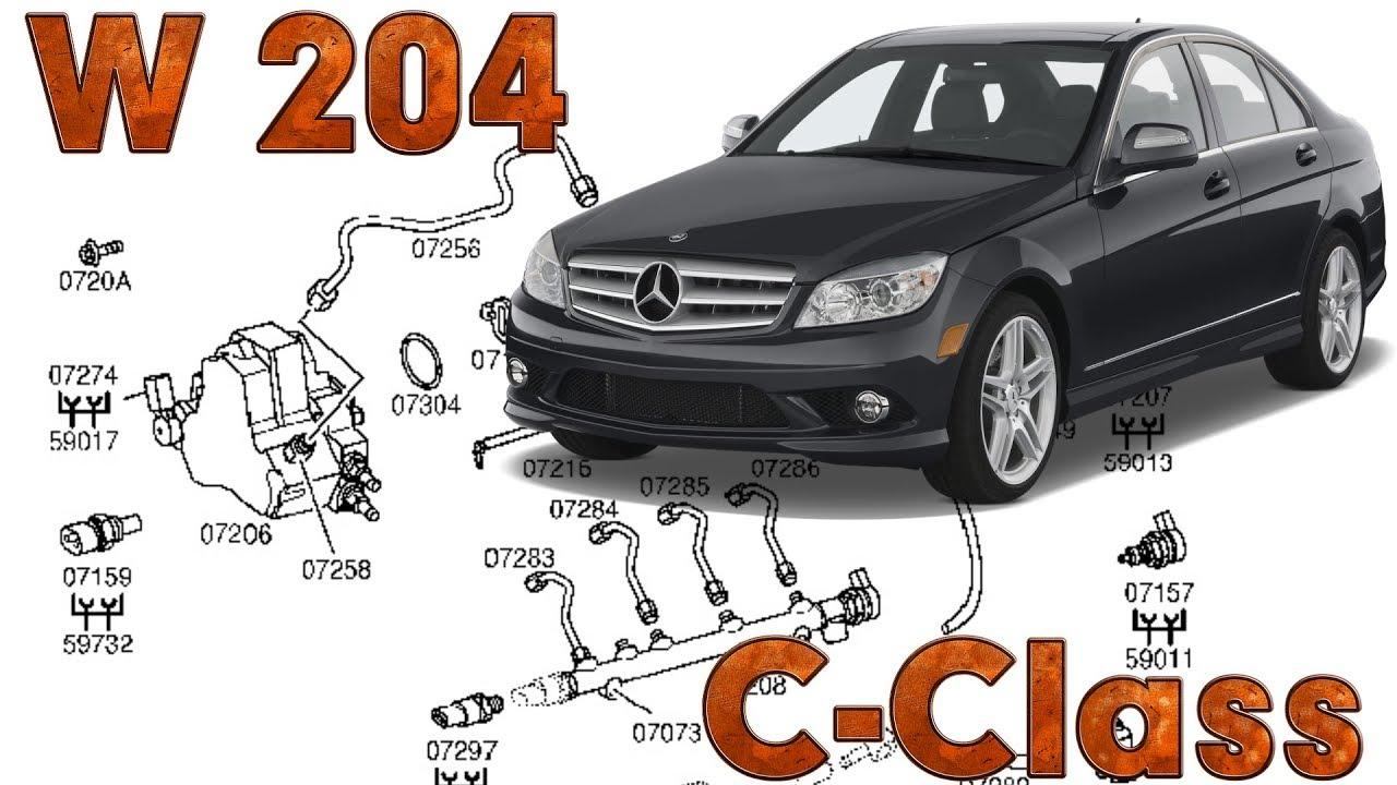 c class w204 fault locations high pressure fuel circuit common rail [ 1280 x 720 Pixel ]