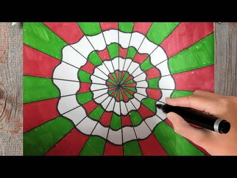 How To Draw Beautiful Geometric Drawing ! Optical illusion ! Art On Paper 3d Design Step By Step