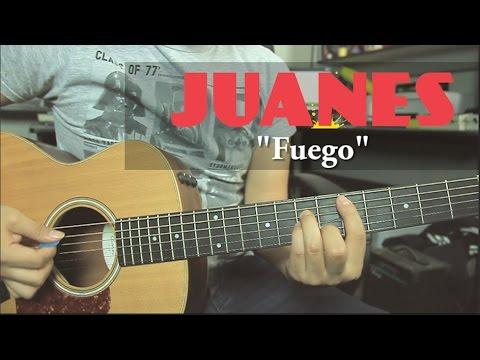 Como tocar Fuego de Juanes - Tutorial Guitarra + TAB (HD)
