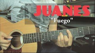 """Como tocar """"Fuego"""" de Juanes - Tutorial Guitarra + TAB (HD)"""