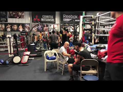 Robert Garcia gym getting ready for fight night( YouTuber NKA visits )