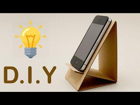 2 DIY Phone Stand   Cardboard Mobile Holder Craft ,Best Out of Waste ,Home Decor ,DIY Hacks