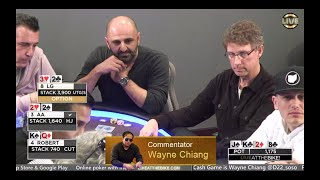 "Live at the Bike $5/$5/$10 NLHE - ""Wayne Chiang Commentates Animal No Limit Poker Play"""