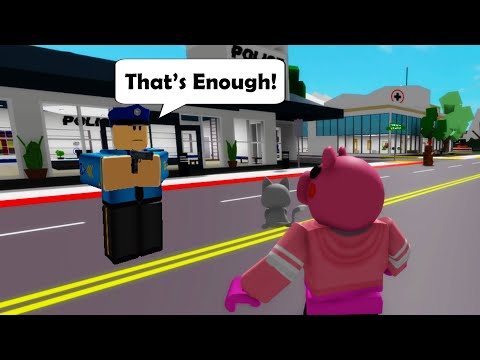 PIGGY got arrested in Roblox BrookHaven RP!