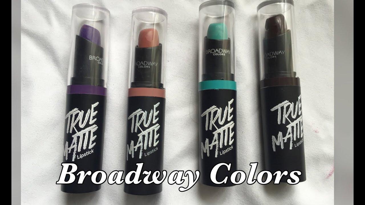 Kitchen Table Colors Virtual Remodel Broadway True Matte Lipsticks - Part 2 Dollar ...