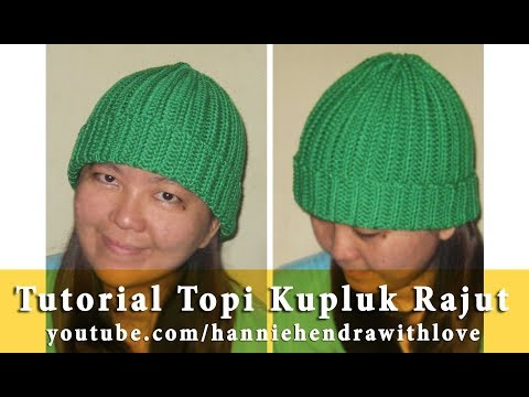 Crochet || Tutorial Topi Kupluk Rajut Untuk Pemula - Super Easy Beanie Hat