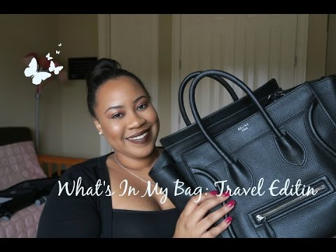 What's In My Bag⎮Essentials for Air Travel Feat. Celine Mini Luggage Tote!