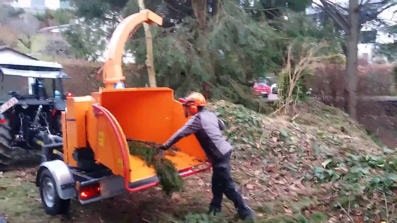 häcksler und traktor - youtube