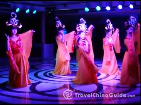 A cabaret on the Yangtze River Cruise