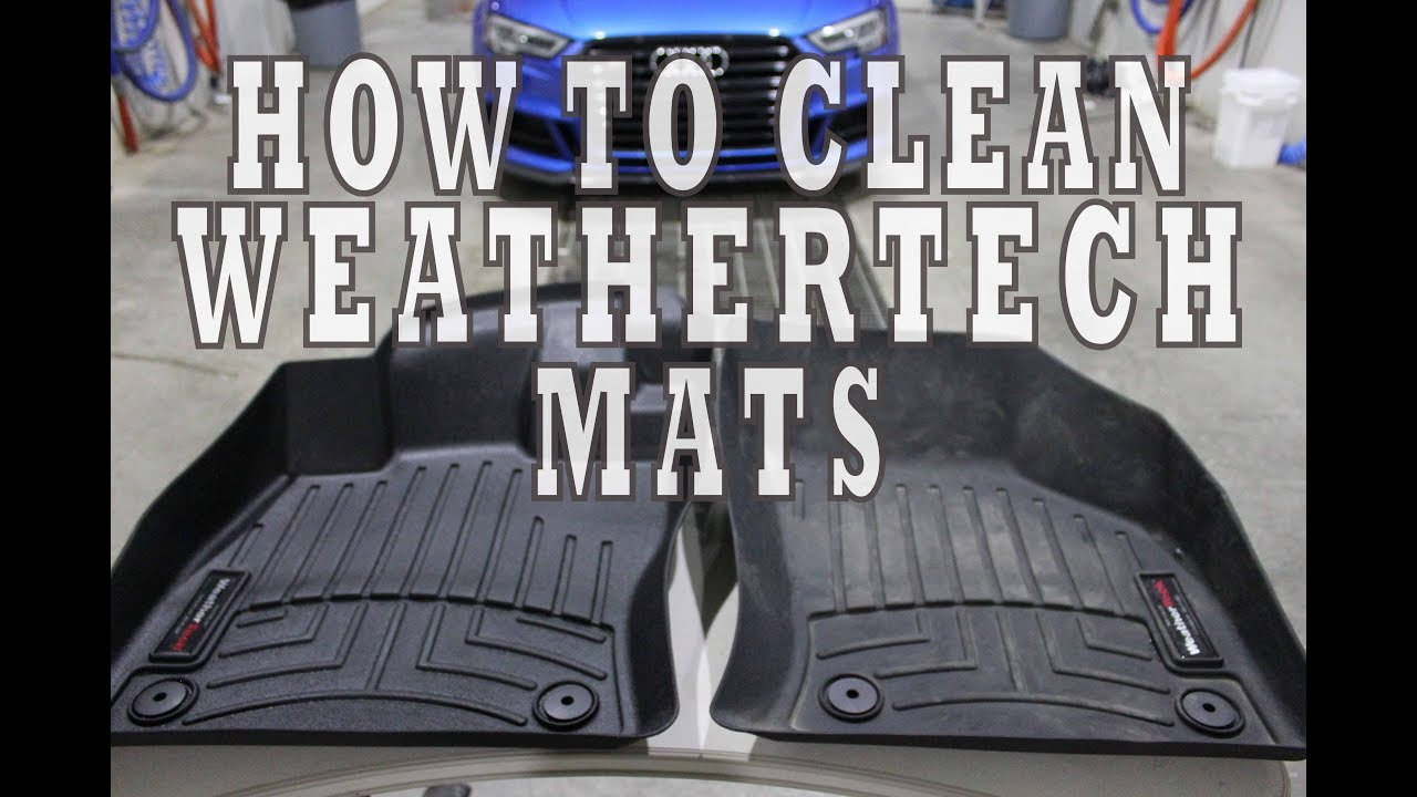How To Clean And Restore Weathertech Mats Youtube