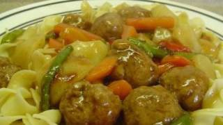 Meatball Stew With Noodles