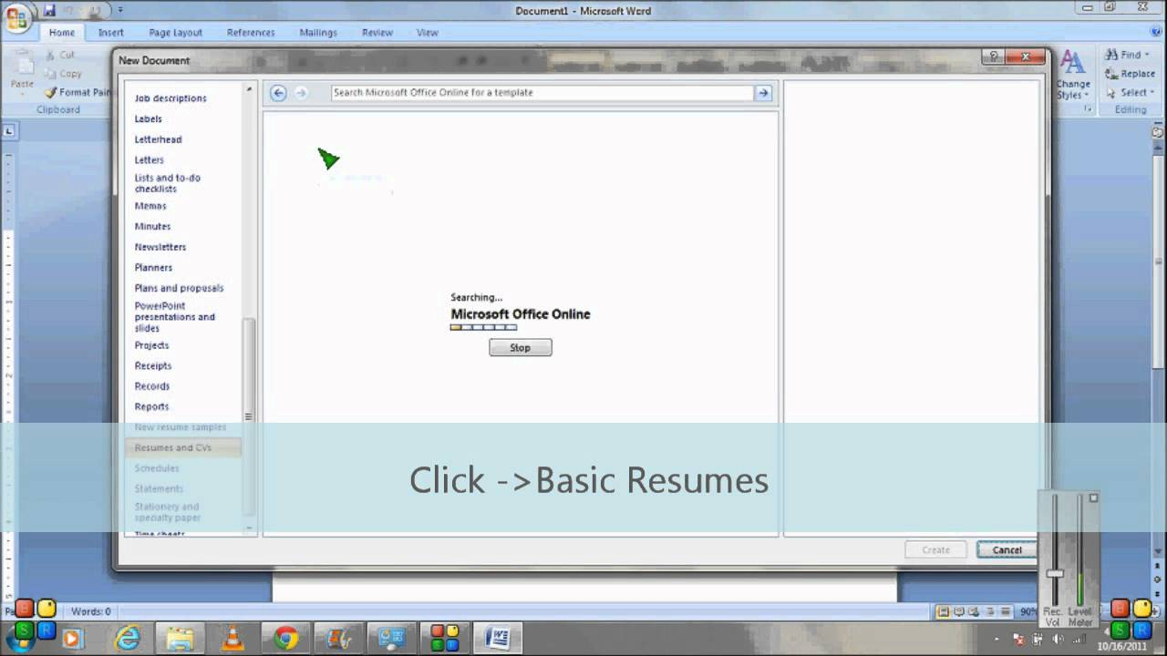 how to make resume using microsoft word template wmv youtube
