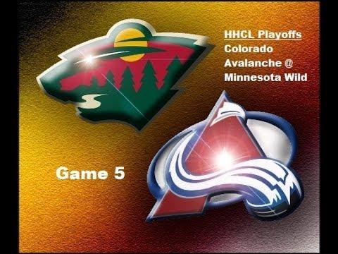 HHCL Playoffs : Colorado Avalanche @ Minnesota Wild - Game 5