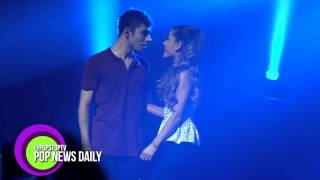 Nathan Sykes Carries Ariana Grande Onto Stage & Serenades Her!