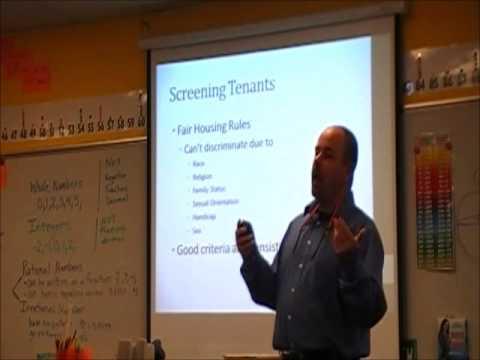 Landlord101 - Screening and choosing tenants