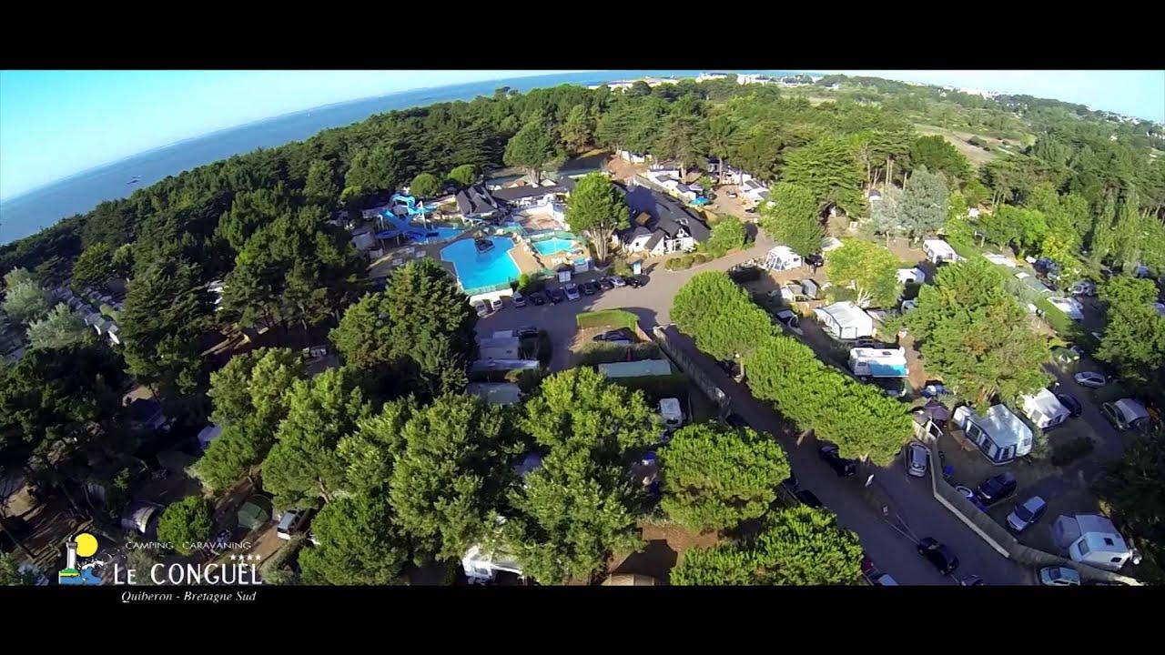 Vid o camping le conguel quiberon 56 youtube for Camping piscine quiberon