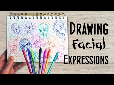 Drawing Facial Expressions with Ballpoint Pens - Sketchbook Session Ep5