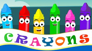 Crayons Nursery Rhymes | Crayon Color Song For Kid Songs | Nursery Rhymes thumbnail
